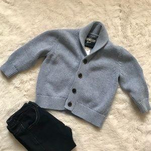 OshKosh baby blue cowl neck cardigan 12 month